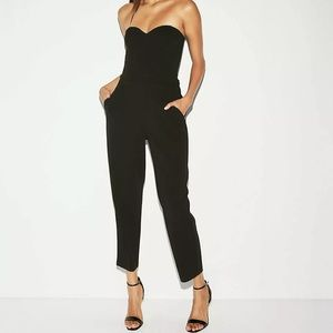 Express sweetheart neck jumpsuit